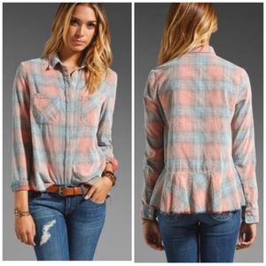 Free People Plaid Top (S)